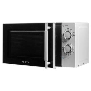 VEKTA MS720ATW microwave oven, 20 litres, 700 watt power, mechanical leveling, timer, white