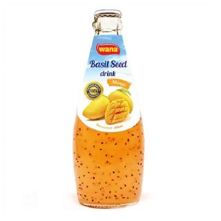WANA Basil Seed Drink With Apple Flavor in Bottle 290ml