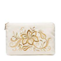 Velvet purse 'Tenderness', white