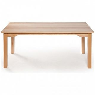 Rectangular children's table made of solid beech wood