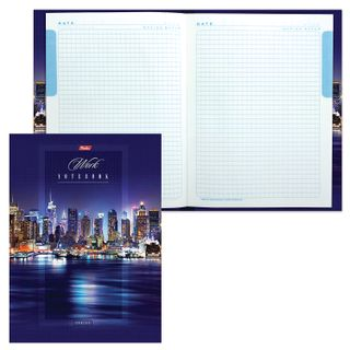 Notebook BIG FORMAT (205x290 mm) A4, 160 sheets, hardcover, laminated cover, cage, block 5 colors, HATBER,