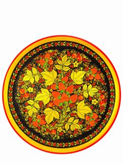 Khokhloma painting / Plate-panel with a rim 500x20 mm