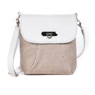 "Leather bag ""Paris"" white"