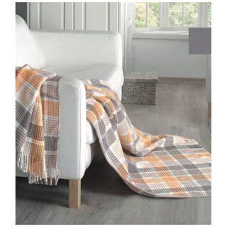 Cotton blanket with fringe Textil