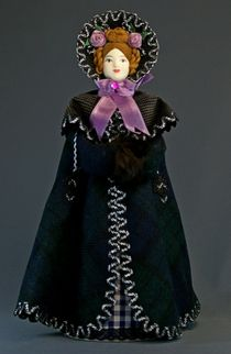 Doll gift porcelain. The lady in the cloak. 1830-ies, Petersburg.