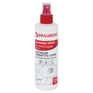 The cleaning liquid spray for whiteboards, BRAUBERG, 250 ml