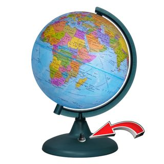 Political globe with a diameter of 210 mm with backlight battery powered (batteries not included)