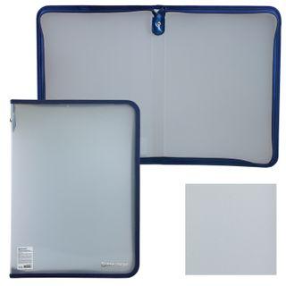 The zip folder plastic A4 VOLUME, 335х240х20 mm, matte diagonal, BRAUBERG, RUSSIA