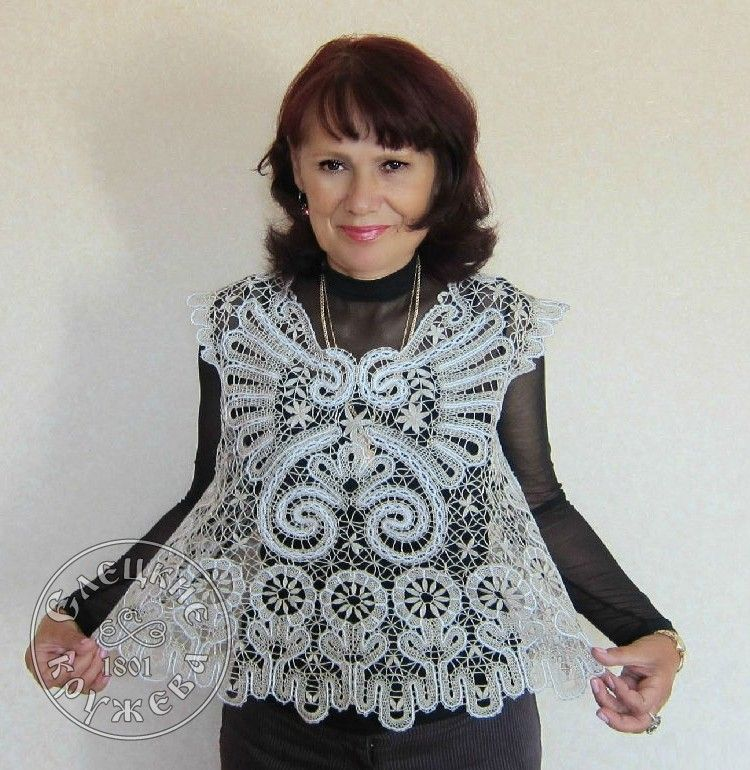 Yelets lace / Women's lace blouse 44-09