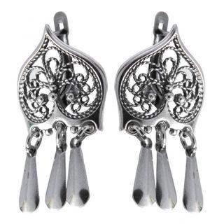 """Earrings 30173 """"Mysterious heart"""""""