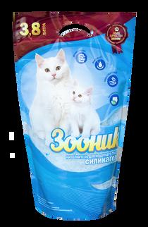 'ZOONIK' Silica Cat Litter, 3,8l /or 20l