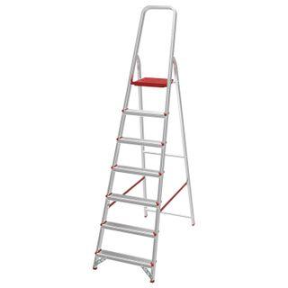 NEW HEIGHT / Aluminum step ladder 7 standard steps 9 cm, platform 1.5 m, load 225 kg, weight 5.7 kg