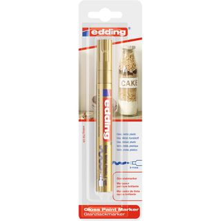 Edding / Marker varnish glossy, round nib, 2-4 mm, blister Gold