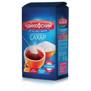 """TCHAIKOF / Granulated sugar """"Chaikofsky"""", 0.9 kg, premium grade according to GOST, paper bag"""