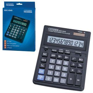 Desktop calculator CITIZEN SDC-554 (199x153 mm), 14 digits, dual power supply