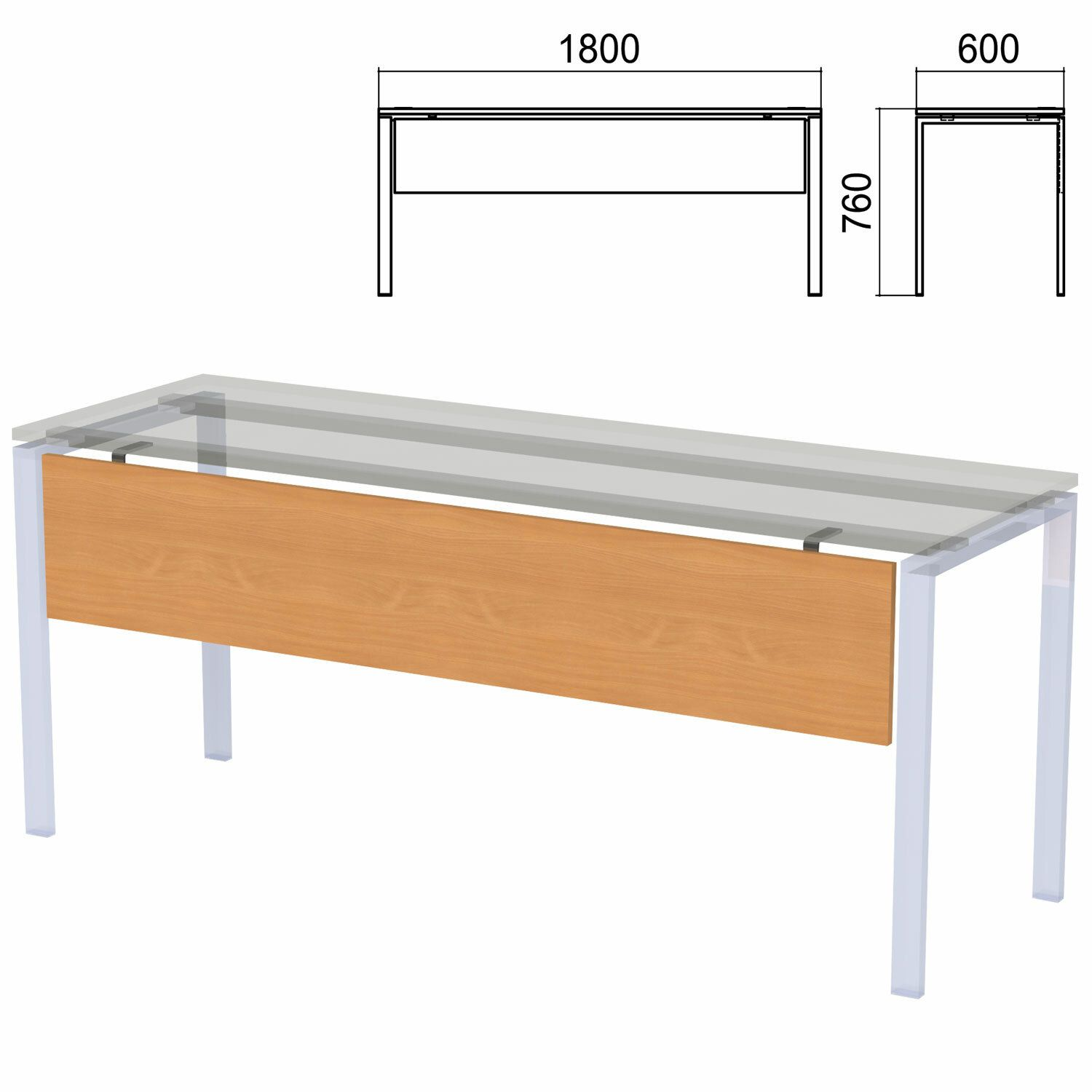 "Trestle for tables on metal frame ""Argo"", 1800 mm wide, aroso pear"