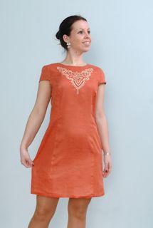 Dress womens linen 9-40