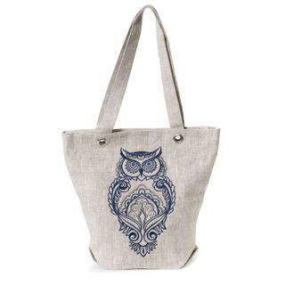 """Linen bag """"Owl"""""""