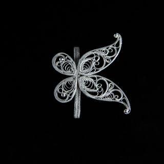 Napkin holder Butterfly silvering, Kazakovskaya Filigree