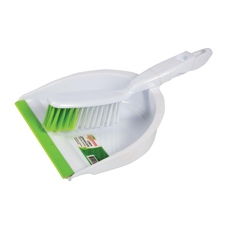 LYUBASHA / Garbage scoop with a broom, plastic, rubber edge