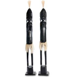 """Wooden statuette """"Asmat black"""" 100 cm"""