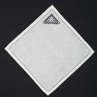 Napkin with openwork embroidery