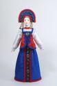Doll gift porcelain. Nizhny Novgorod province. Russia. Girl's costume. - view 1