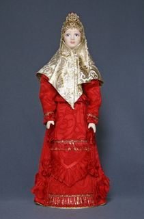 Doll gift. Kargopol women's costume, styling