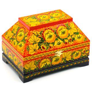 Casket wooden Flowers 230х155