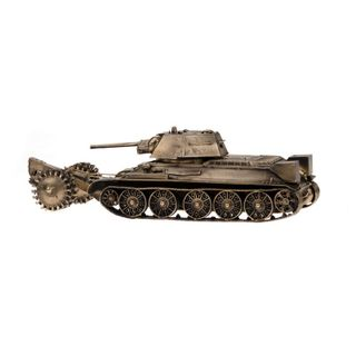Model tank T-34/76 with mine-thrall 1:35