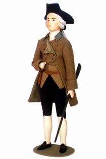 Doll gift. Men's hunting suit ser. 18th century. London. England.