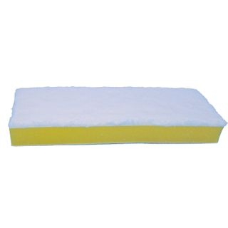 """LYUBASHA / MOP attachment for self-wringing mop """"Butterfly"""" 603607, sponge / microfiber 26 cm, with Velcro"""