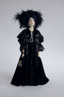Doll gift. The socialite in black