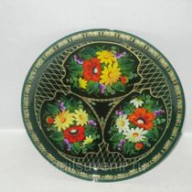 "Metal tray round ""Flowers. Rowan"" 270 mm - exclusive painting on metal"