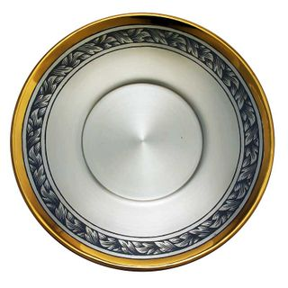 Saucer silver with gilding