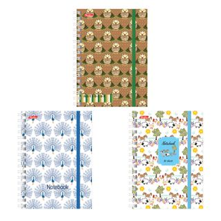 Small FORMAT Notebook (105 x145 mm) A6, 80-50 sheets, comb, cover cardboard, rubber band, Hatber,
