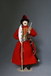 Doll gift porcelain. Sagittarius. 17th century. Russia