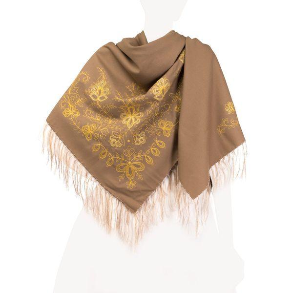 Garden of Eden shawl brown