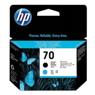 HP / DesignJet Z2100 / Z3100 Print Head (C9404A) # 70 Matte Black & Cyan Original