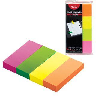 Bookmarks, self-adhesive, LACO (LAKO, Germany) NEON paper, 20*40mm, 4 colors * 50 sheets