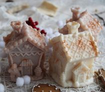 Gingerbread House - handmade New Year's souvenir soap