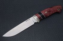 Tourist knife from steel X12MF, handle from wenge A313