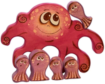 The Octopus puzzle is a colorful developing toy (handmade)