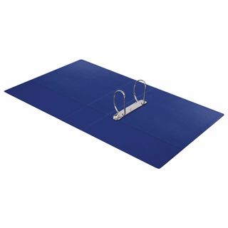 Folder on the 2 rings BRAUBERG, cardboard/PVC, 75 mm, blue, up to 500 sheets (double life)