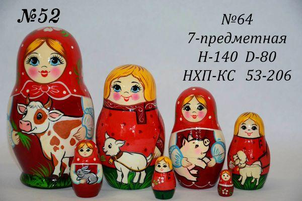 Vyatka souvenir / Matryoshka 7-piece number 63