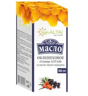 Altai Sun / Sea buckthorn oil with black currant flavor 100 ml