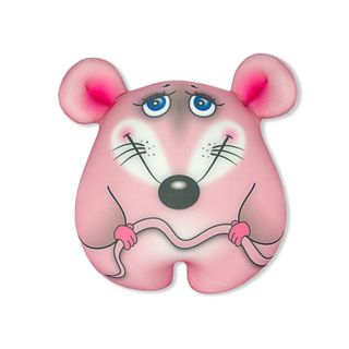 """Anti-stress toy """"Mouse-conscious"""" small, pink"""
