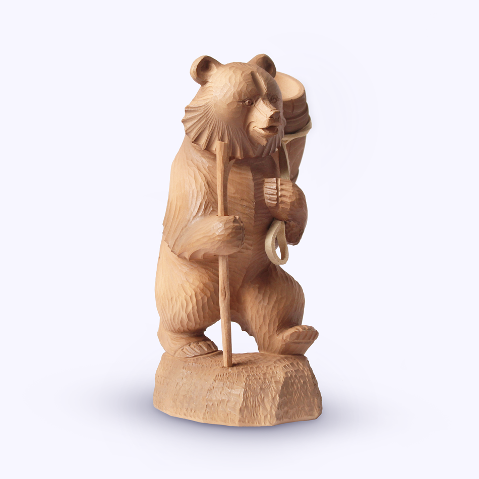 "Bogorodskaya toy / Wooden souvenir ""On the way"""