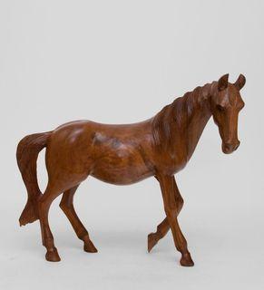 """Wooden figurine """"wild horse"""" 40 cm"""