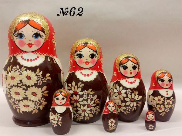 "Vyatka souvenir / Painted, inlaid nesting doll 7 ave. ""Pattern"""